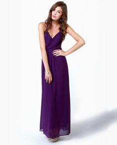 Rooftop Garden Backless Purple Maxi Dress...formal?