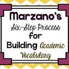 Free! Marzano's Six-Step Process for Building Academic Vocabulary Posters!!!