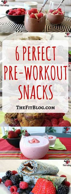 Learn what you should eat before your workouts and get six delicious clean eating recipes for the perfect pre-workout snacks and pre-workout shakes. You will love these easy pre-workout recipes to fuel your next workout! Post Workout Snacks, Workout Meals, Pre Workout Snack, Pre Workout Breakfast, Pre Workout Protein Shake, Snacks Saludables, Yummy Food, Delicious Recipes, Healthy Choices