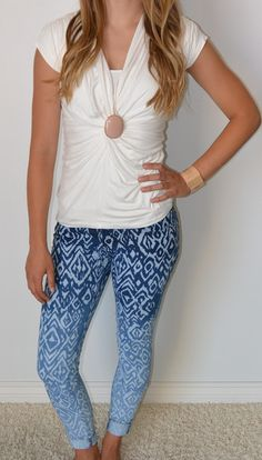 Ombre Printed Skinny Jeans | SexyModest Boutique