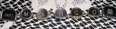 Jewelry from old typewriter keys! Love this!