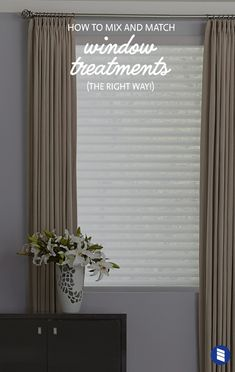 Want help matching curtains and blinds to get the layered look just right? We'll share all our advice for mixing and matching window treatments to help you get a designer-quality look for less.  #bedroom #curtains #windowshades #drapes #draperies #white #blinds #sheershades #fabricblinds