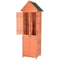 Outsunny Pine Wood Storage Shed -- Check out this great product.-It is an affiliate link to Amazon.