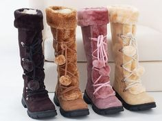 27.31$  Buy now - http://aliq6u.shopchina.info/1/go.php?t=32494282359 - Women Boots Autumn and Winter Snow Boots High Boots Thick Sweet Female Side Zipper Flat Fashion Casual Shoes Thick Soles 27.31$ #magazine