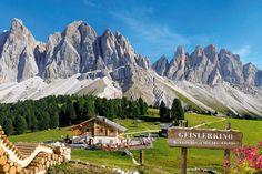 Urige Almhütte in Südtirol - Geisleralm Villnöss Tal in den Dolomiten