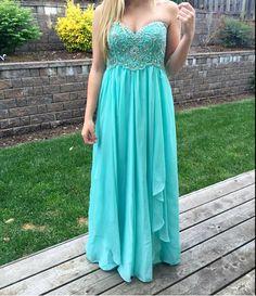 Charming Prom Dress,Blue Chiffon Prom Dress,Long Prom Dress,Evening