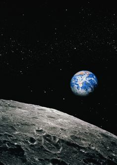 Satellite View of Earth From Moon