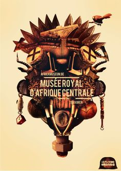 Typography and illustration for the Royal Museum for Central Africa in Tervuren