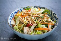 Chinese Chicken Salad Recipe on SimplyRecipes.com Quick and easy!