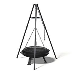 Buy Tripod Barbecue Model by CGAxis on Tripod barbecue model made of black metal.