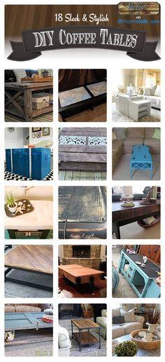 18 Sleek & Stylish DIY Coffee Tables | by 'DIY Vintage Chic' blog!