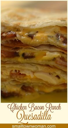 The flavors of chicken, bacon, ranch and cheese meld together in this recipe like Fred & Ginger or Abbot & Costello.