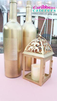 Gold bottles & lante