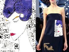 INSPIRATION Andy Warhol's fashion illustrations 1959... Christian Dior FW 2013||14