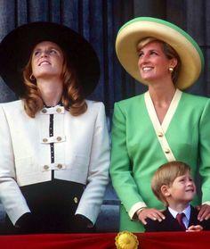Duchess Sarah and Princess Diana --1990