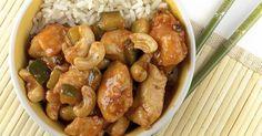 Recette de Poulet sauté aux noix de cajou façon chinoise. Facile et rapide à réaliser, goûteuse et diététique. Ingrédients, préparation et recettes associées.
