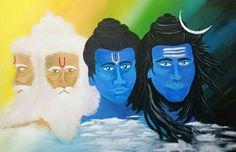 """Hindu Titans - Acrylic on canvas board 20""""x30"""" by AranyaArt."""