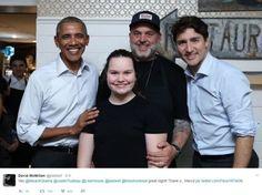 David McMillan du restaurant Liverpool House a publié ce tweet en compagnie de Barack Obama et de Justin Trudeau.