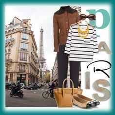 Paris in spring, created by #zoenian on #polyvore. #fashion #style Burberry Brit Miss Selfridge