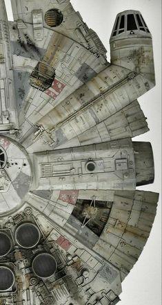 Star Wars Ships, Star Wars Art, Star Trek, Milenium Falcon, Cuadros Star Wars, Millennium Falcon Model, Nave Star Wars, Han Solo And Chewbacca, Star Wars Spaceships