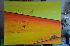 Cat heav'n!  Acryl op MDF formaat 60 x 80 cm