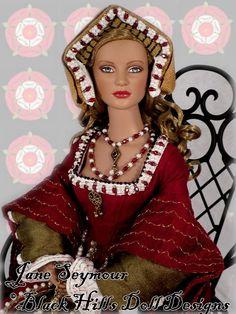 Jane Seymour, third wife of Henry VIII. Black Hills Doll Designs