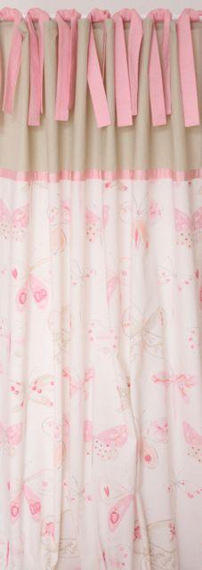 vorhang gardinen v gelchen rosa grau 135 x 240 cm. Black Bedroom Furniture Sets. Home Design Ideas