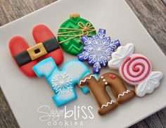 SugarBliss Cookies: SugarBliss HOHOHO. The shading on these cookies. fab.