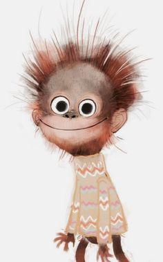 Funny things Source by sabine_verna Cute Animal Illustration, Cute Animal Drawings, Cute Drawings, Illustration Art, Animal Illustrations, Monkey Art, Cute Monkey, Cute Cartoon, Cartoon Art