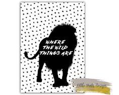 Where the Wild Things are Tribal Safari Jungle Digital Print for Childrens Room Nursery Home Decor Printable by LittlePantsDesigns on Etsy https://www.etsy.com/listing/463283623/where-the-wild-things-are-tribal-safari