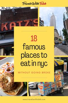 There are plenty of cheap places to eat in NYC where you can get a great meal at a decent price. You just need to know where to look! Here are a few New York City places where you can eat the best NYC food at an affordable price, selected by both natives and visitors who love exploring the streets of New York City. Nyc Itinerary, South America Travel, North America, New York City Travel, Famous Places, Foodie Travel, Places To Eat, Travel Around The World, Travel Usa