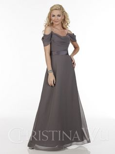 Christina Wu Celebrations 22603 Chiffon A-line gown with beaded spaghetti  straps 6ef204211f02