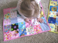 """turn a quilt into a matching game!!  I will probably never do this, but maybe it will inspire me to learn to sew! @Margaret White - this goes on my """"Will Never Get Done"""" board!"""