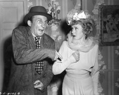 """Emil Sitka (Three Stooges actor) & Billie Burke in """"Silly Billy"""" Billie Burke, Glinda The Good Witch, Ziegfeld Follies, Musical Film, Wizard Of Oz, Vintage Movies, American Actress, Captain Hat, Actors"""