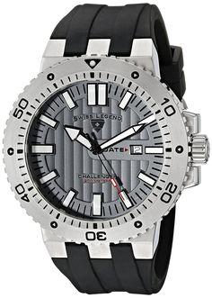 Swiss Legend Men's 10126-014 Challenger Grey Textured Dial Black Silicone Watch ** Check this awesome watch by going to the link at the image.