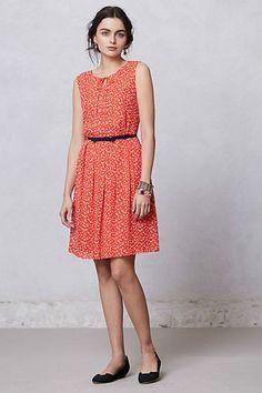 Anthropologie Prosecco Dress SZ 4, Red Polka Dot, By Hi There From Karen Walker  #HiThereFromKarenWalker #TeaDress #WeartoWork