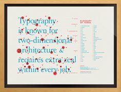 Cartel para aprender la anatomía de la tipografía