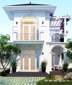 Xây Dựng Sao Vàng - Thiết kế thi công biệt thự 2 tầng 8x12m anh Nhân tại Bình Phước