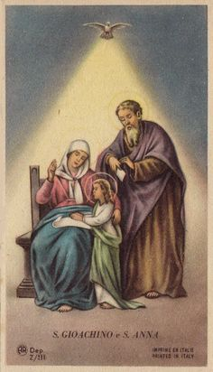 Saints Joachim and Anne, parents of Virgin Mary and protectors of the Carmelite Order