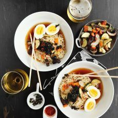 Bowl of Food: Spicy Roasted Vegetable Ramen // joy the baker Healthy Ramen Noodles, Ramen Noodle Recipes, Soup Recipes, Noodle Soups, Frugal Recipes, Asian Noodles, Vegetable Ramen, Vegetable Recipes, Vegetable Dishes