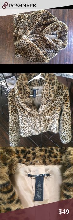 Lucky Brand Faux Leopard Coat Cute, playful and sexy! Lucky Brand Jackets & Coats