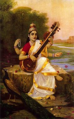 Saraswati Mata, Saraswati Goddess, Star Goddess, Indian Goddess, Saraswati Painting, Iron Man Hd Wallpaper, Raja Ravi Varma, Durga Images, Desert Art
