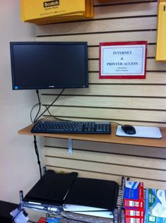Need a computer and printer in a hurry. Use our station