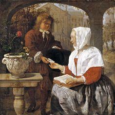 Gabriel Metsu A Girl Receiving a Letter, ca. 1658
