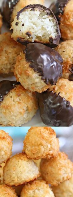 These Coconut Macaroons from Sugar Hero are a wonderfully easy treat! The coconut cookies are crispy on the outside, and soft and tender on the inside! Macaroon Recipes, Sweets Recipes, Just Desserts, Cookie Recipes, Baking Recipes, Delicious Desserts, Coconut Deserts, Coconut Macaroons, Coconut Cookies