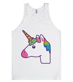 If you're a horse, you're only one ice cream cone away from being a unicorn! This design puts a spin on the horse emoji. This lovely self-made mythical creature has a rainbow mane and a mint chocolate chip ice cream cone fashioned as a unicorn horn. So magical!!