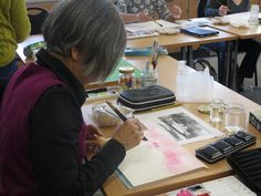 Learners exploring how to use watercolour paint int their art. To join this course in the future, or any of our other courses, go to www.uk or call 01296 382 403 Jewellery Making Courses, Part Time, Gardening Courses, Art Courses, New Hobbies, Learning Centers, Watercolour, Exploring