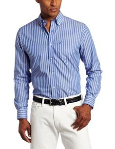 Nautica Men's Long Sleeve Saturated Stripe Shirt. $59