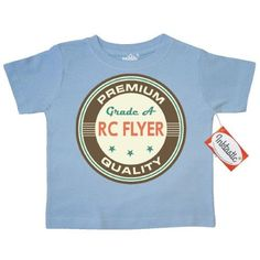 Inktastic RC Flyer Vintage Toddler T-Shirt Flying Sports Gift For Radio Control Racing Hobbies Hobby Tees. Child Preschooler Kid Clothing Apparel Hws, Size: 2T, Blue