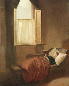 The Convalescent  By Ambrose McEvoy . Early 20th Century - you know you're a hopeless reader when it's a gift to get sick because it gives you more time to read.